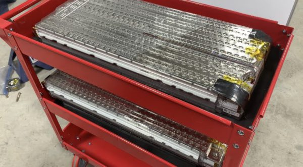 Tesla Model S battery modules
